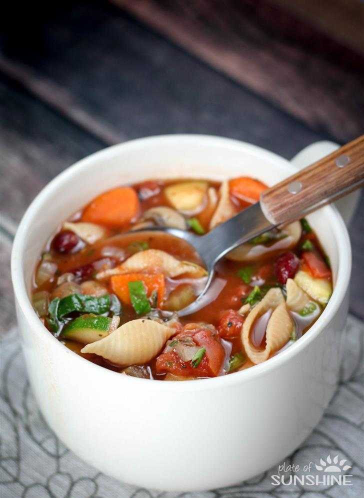 Minestrone in a hurry
