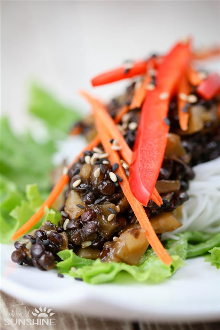 Commit error. Asian lettuce wraps not