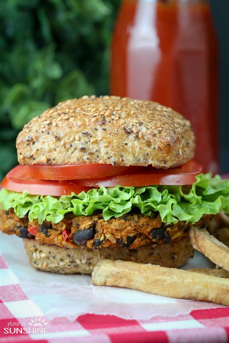 """Triple S"" Veggie Burger"